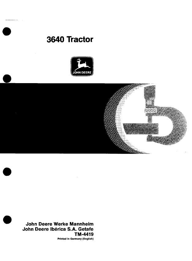 john deere 3640 tractor tm4419 technical manual pdf rh epcatalogs com John Deere 4460 Tractor John Deere 3920
