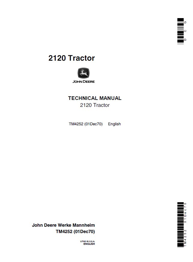 John deere 2120 tractor tm4252 technical manual pdf repair manual john deere 2120 tractor tm4252 technical manual pdf cheapraybanclubmaster Images