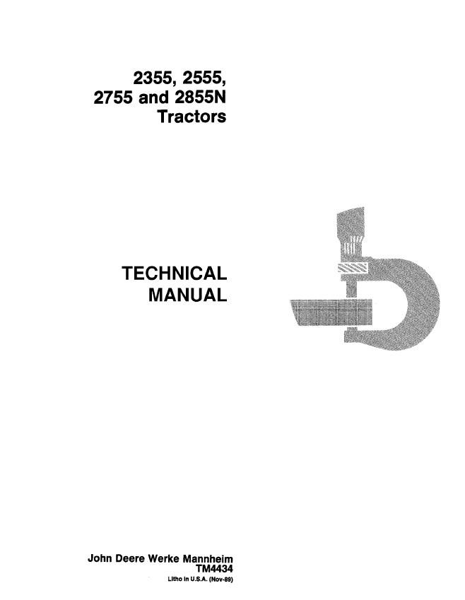 John Deere 2355 2555 2755 2855n Tractors Tm4434 Pdf
