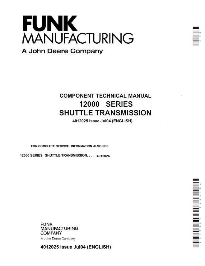john deere 12000 series shuttle transmission ctm pdf Repair Manuals airport services manual part 7 doc 9137