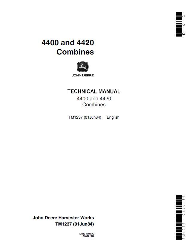 john deere 4400 4420 combines tm1237 pdf manual rh epcatalogs com john deere 4400 service manual pdf john deere 4400 repair manual