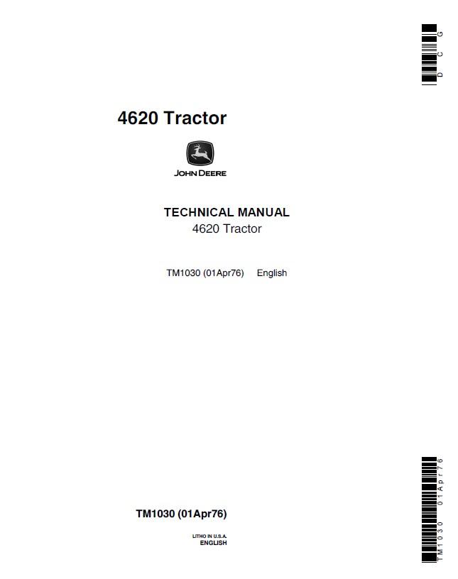 john deere 4620 tractor tm1030 technical manual pdf