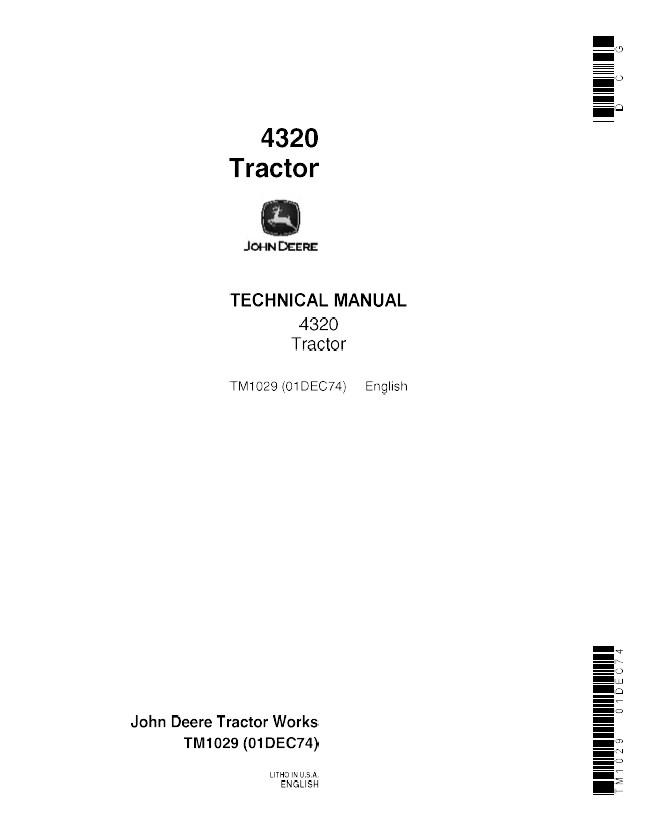 John Deere 4320 Wiring Schematic Tractor Diagrams. John Deere 4320 Tractor Tm1029 Technical Manual Pdf Solenoid Wiring Diagram Repair. Wiring. Wire Diagram Jd 4320 At Scoala.co