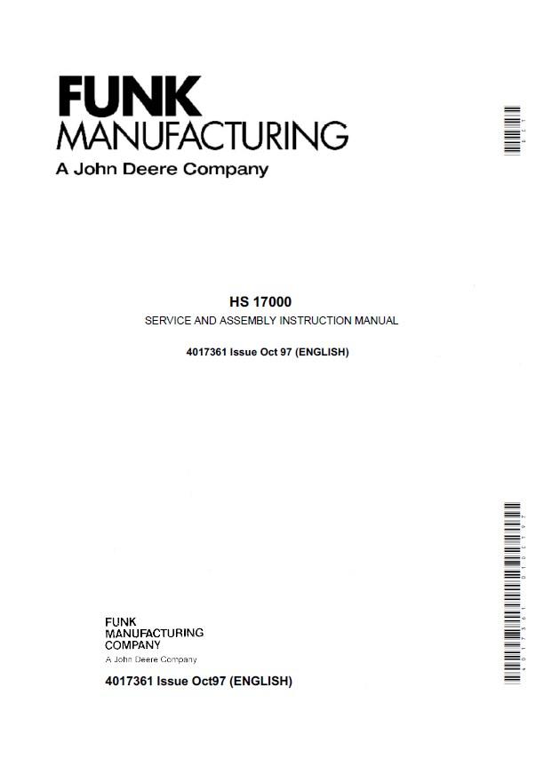 john deere funk hs17000 service assembly manual pdf rh epcatalogs com john deere instructions manual 6515 john deere construction manual