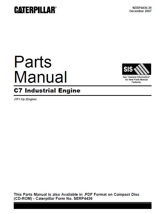 caterpillar c industrial engine parts manual pdf spare parts spare parts catalog caterpillar c7 industrial engine parts manual pdf
