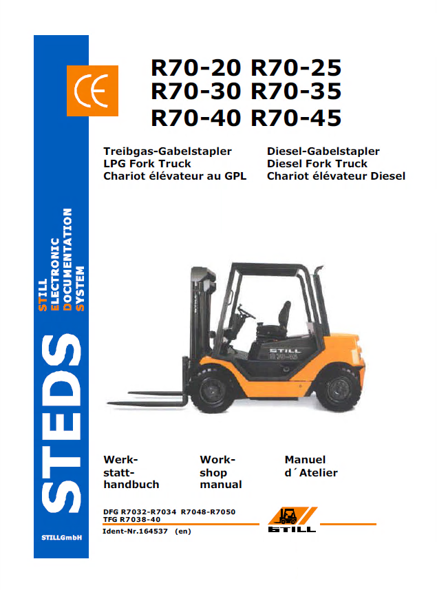 Still Steds R70 20 R70 25 R70 30 Fork Trucks Workshop