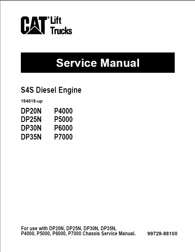 Cat S4S Diesel Engine DP20N DP25N DP30N DP35N PDF