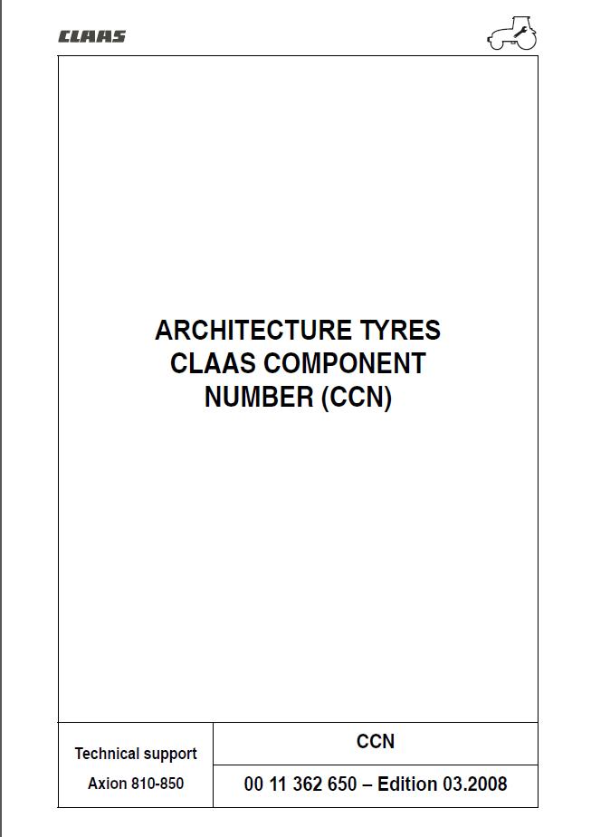 Claas Axion Workshop Repair Manual  Digital