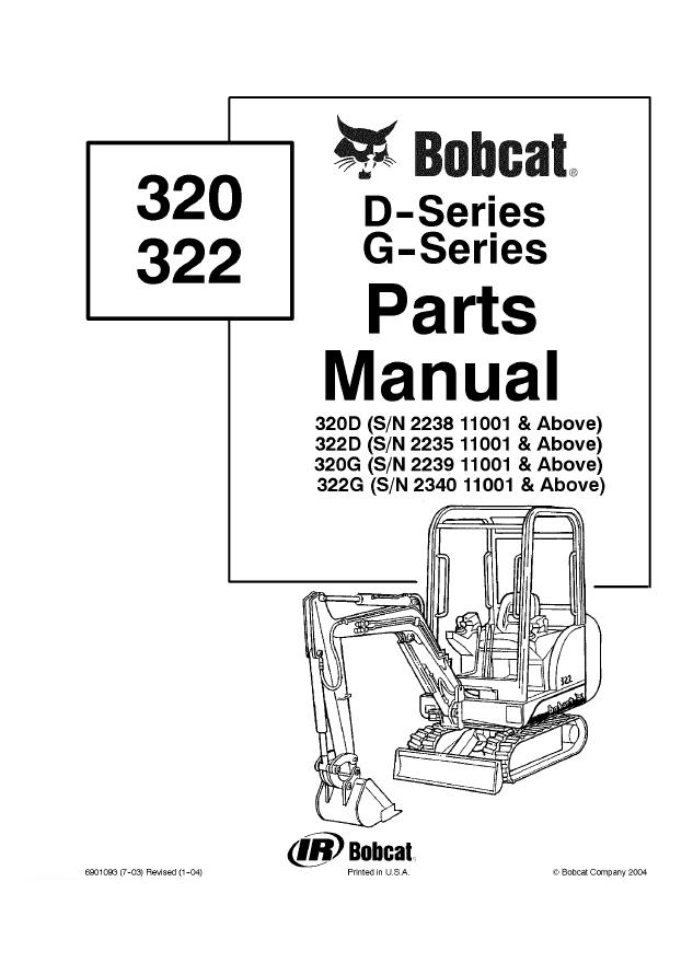 bobcat 320 322 mini excavator parts catalog pdf bobcat 320, 322 d and g series excavators parts manual pdf, spare Bobcat 325 Mini Excavator at panicattacktreatment.co