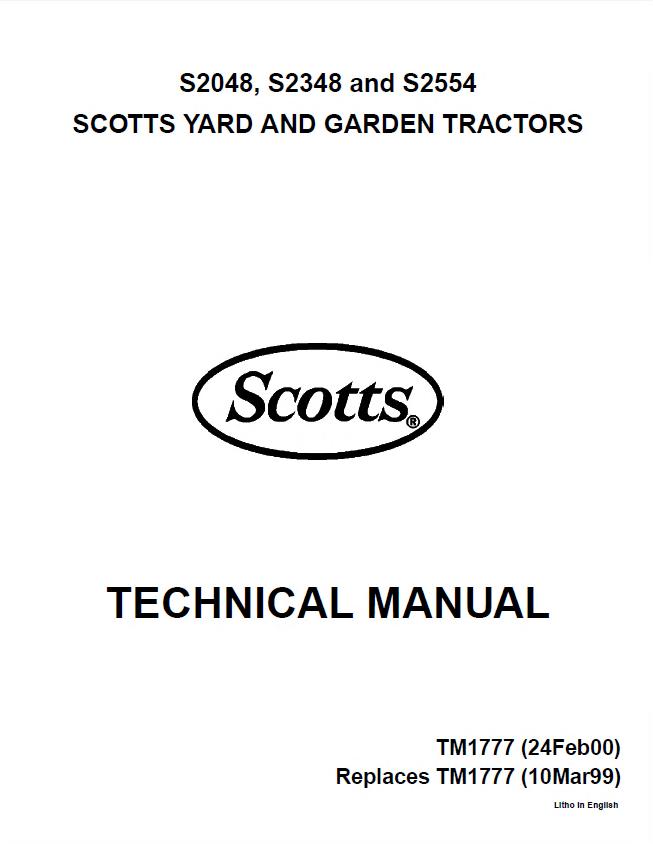 john deere s2048 s2348 s2554 tractors tm1777 pdf rh epcatalogs com Scotts S2554 Garden Tractor Parts Diagram Scotts S2554 Engine Wiring-Diagram