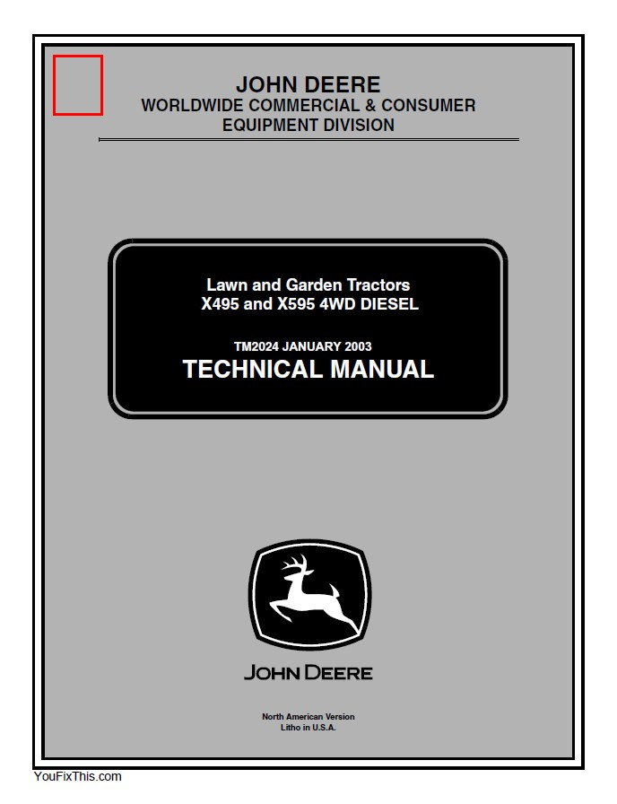 John Deere X495 X595 Lawn  U0026 Garden Tractor Pdf Manual