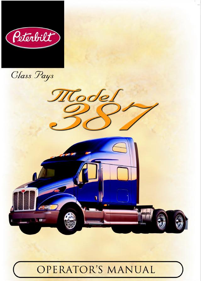 Peterbilt 387 Truck Operator Owner Manual Pdf