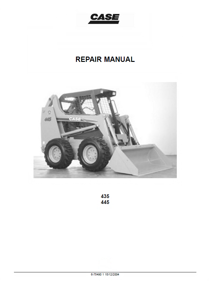 Case 435  U0026 445 Skid Steer Tier Ii Engine Repair Manual Pdf