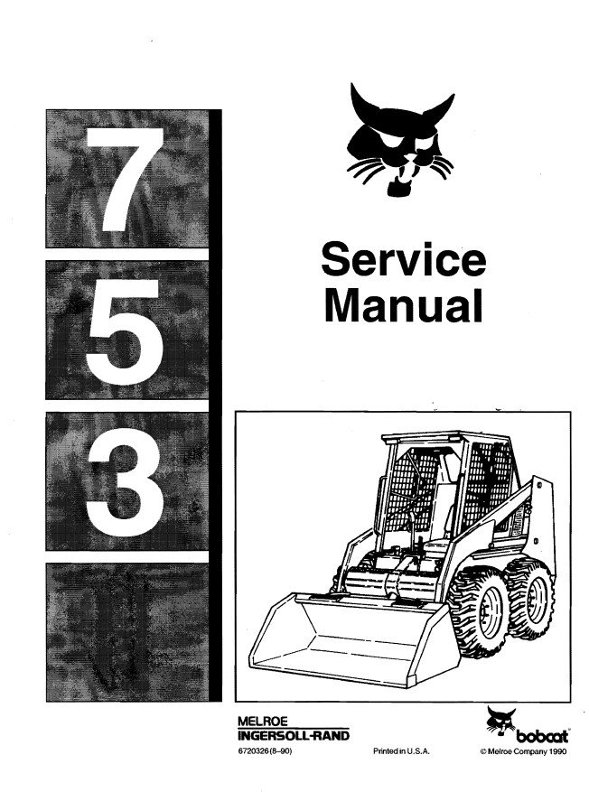 bobcat 753 loader service manual pdf bobcat 753 loader diagram wiring diagram