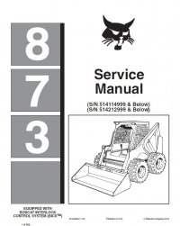 Bobcat Skid Steer Service Manual Workshop Repair Manuals Software