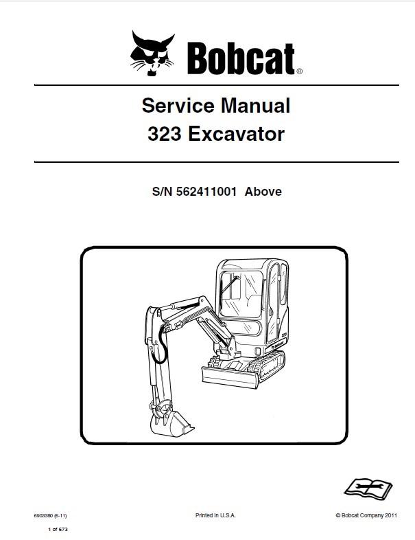 bobcat 323 excavator service manual pdf rh epcatalogs com User Manual PDF User Guide Icon