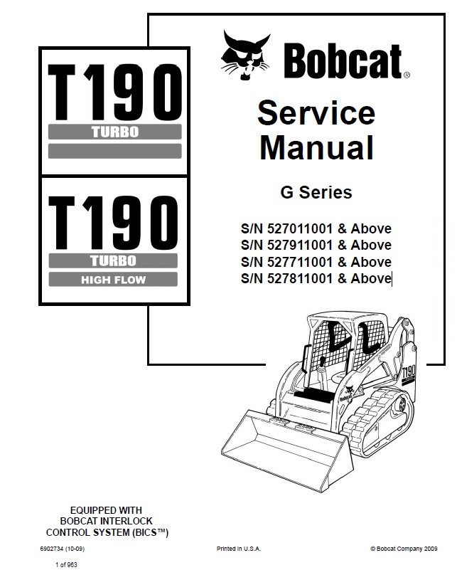 Bobcat T190 Turbo, T190 Turbo High Flow Compact Track Loader ...