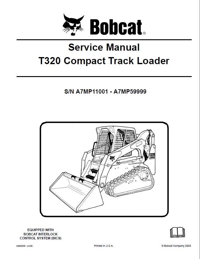 repair manual bobcat t320 compact track loader service manual pdf