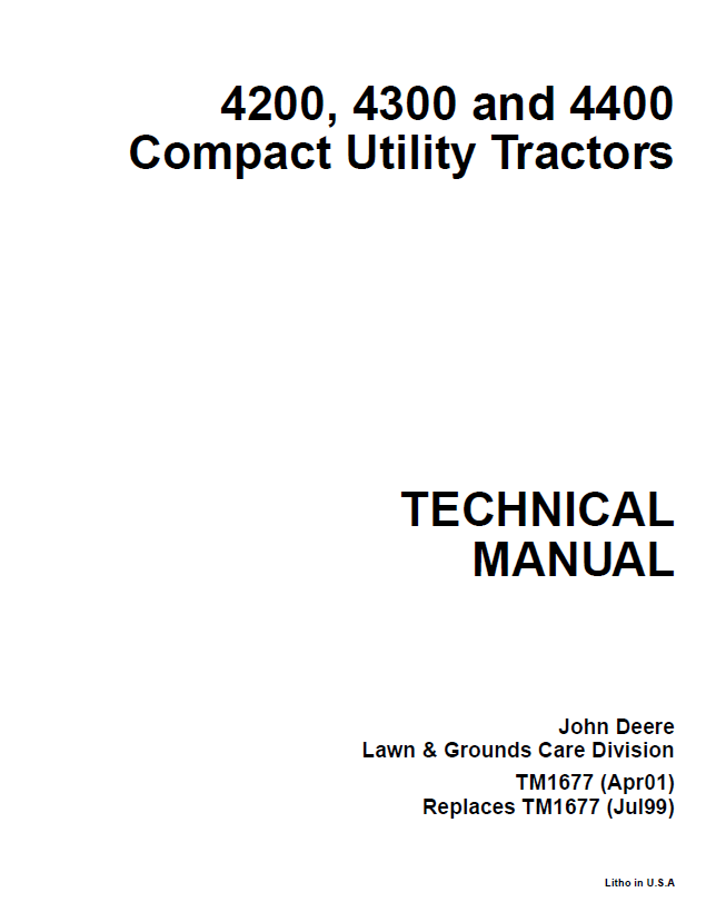 john deere 4200 4300 4400 compact utility tractor service manual pdf john deere 4200, 4300, 4400 compact utility tractor tm1677 john deere 4200 wiring diagram at n-0.co