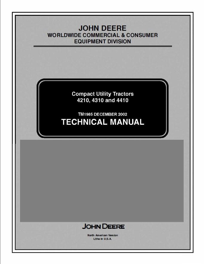 john deere 4210 4310 4410 utility tractor tm1985 pdf rh epcatalogs com john deere 4210 service manual free download 2002 John Deere 4210