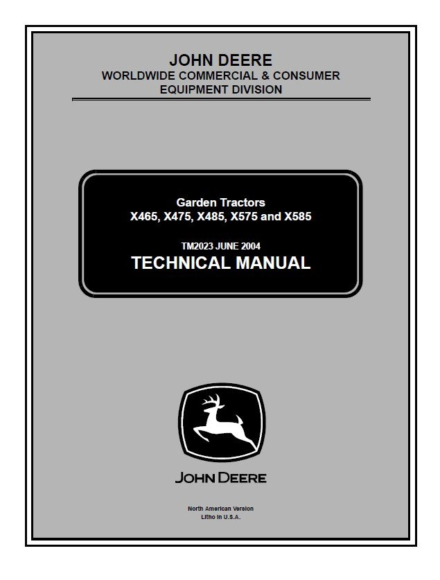 John Deere X465 X475 X485 X575 X585 Tm2023 Pdf