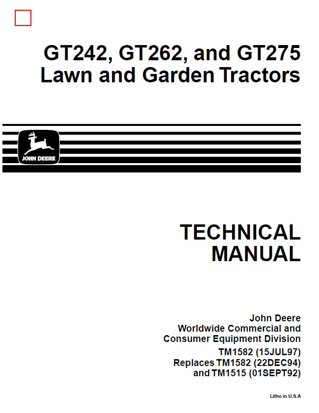 John Deere GT242-GT262-GT275 Lawn & Garden Tractors on john deere wiring diagram, f932 wiring diagram, x320 wiring diagram, x540 wiring diagram, lt150 wiring diagram, lt160 wiring diagram, l110 wiring diagram, stx38 wiring diagram, l130 wiring diagram, stx46 wiring diagram, x475 wiring diagram, lx188 wiring diagram, gt235 wiring diagram, lx176 wiring diagram, la175 wiring diagram, l120 wiring diagram, l118 wiring diagram, x300 wiring diagram, lt155 wiring diagram, x595 wiring diagram,