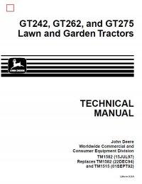John Deere Lawn Tractor Gt Gt Gt Service Manual Pdf