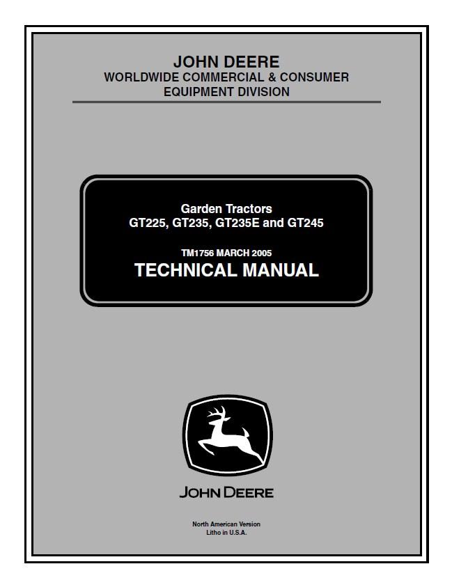 john deere gt225 gt235 gt235e gt245 lawn garden tractor service manual pdf gt262 pto wiring diagram gt235 wiring diagram, x540 wiring gt262 wiring diagram at mifinder.co