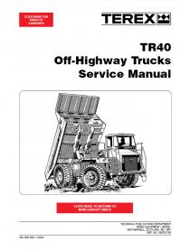 terex tr40 off highway trucks service manual pdf repair. Black Bedroom Furniture Sets. Home Design Ideas