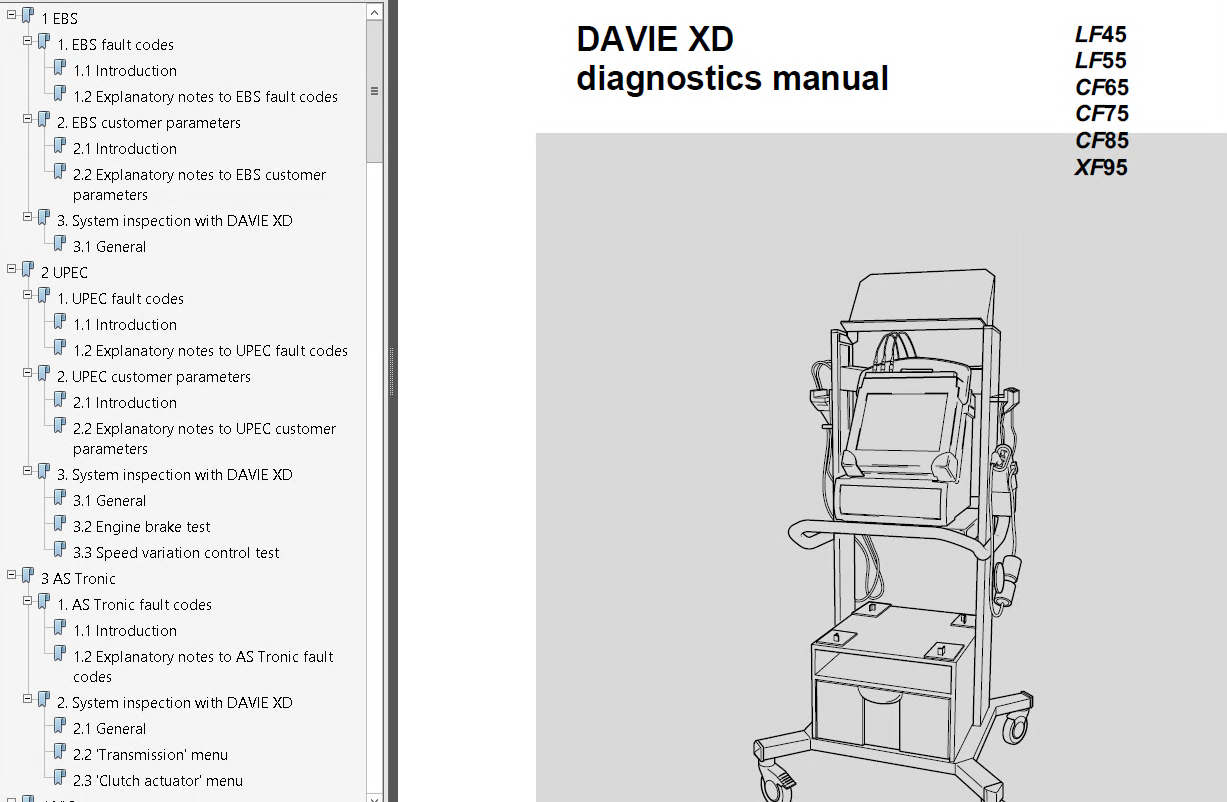 repair manual DAF Trucks Series 95XF CF65 CF75 CF85 LF45 LF55 Workshop  Manuals PDF