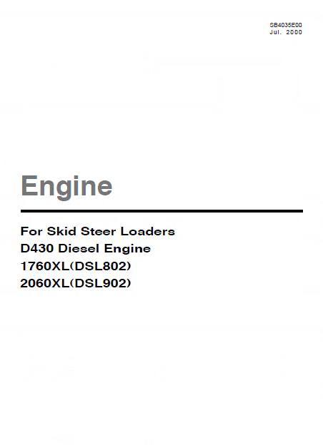Daewoo Doosan D430 sel Engine PDF Manual on