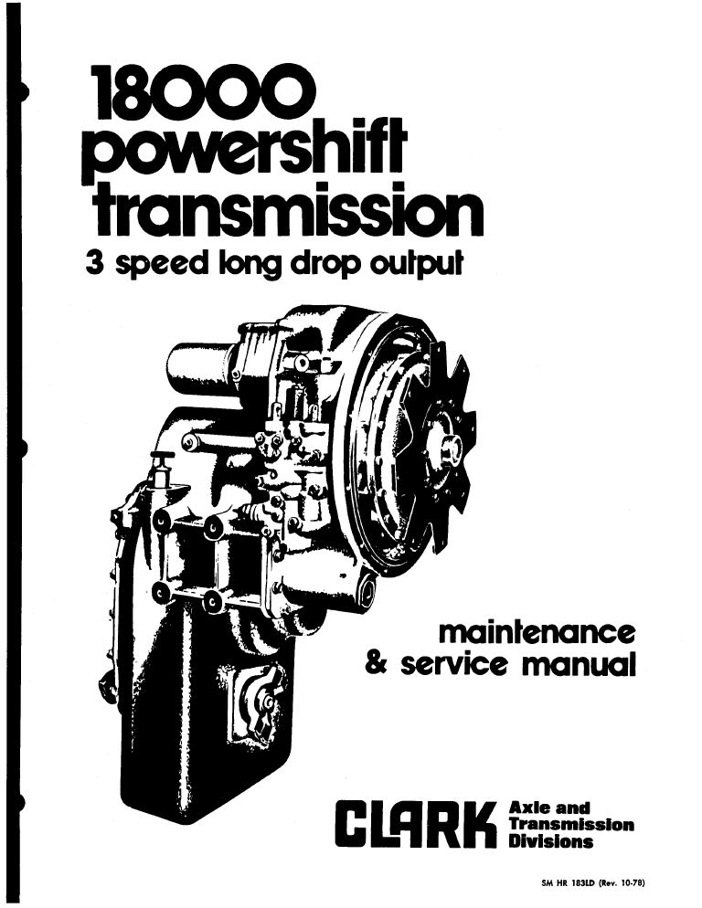 John Deere Clark Powershift 18000 3 Speed Transmission Service Manual Sm Hr on home wiring diagrams