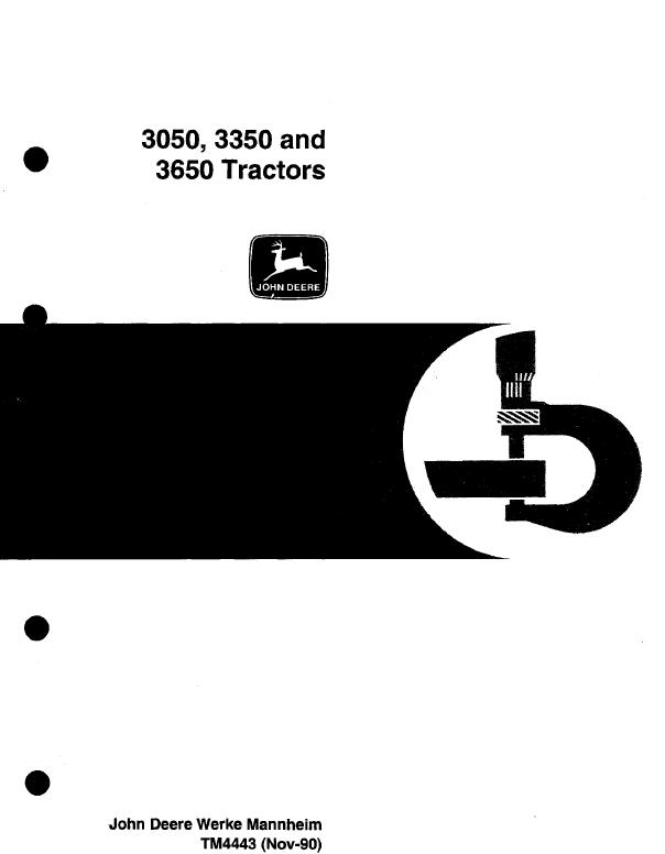 John Deere 3050 3350 3650 Tractor Tm4443 Technical Manual. Repair Manual John Deere 3050 3350 3650 Tractor Tm4443 Technical Pdf. Ford. Ford Tractor 3050 Wiring Diagram At Scoala.co