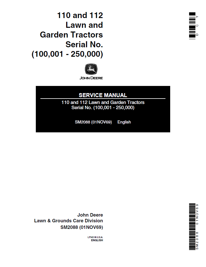 john deere 110 parts manual pdf