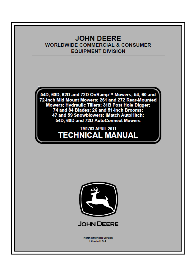 John Deere Cce Technical Manual Tm Pdf on Tractor Wiring Diagrams