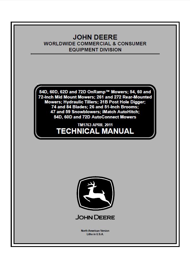 John Deere Cce Technical Manual Tm1763 Pdf
