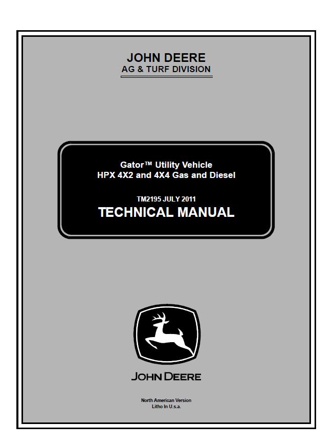 John Deere Gator Utility Vehicle Hpx 4x2 & 4x4 Gas & Diesel Tm2195 John Deere Gator Hpx Wiring Diagram John Deere Electrical Diagrams On Repair Manual John Deere Gator Utility Vehicle Hpx 4x2 & 4x4 Gas & Diesel Tm2195 Technical