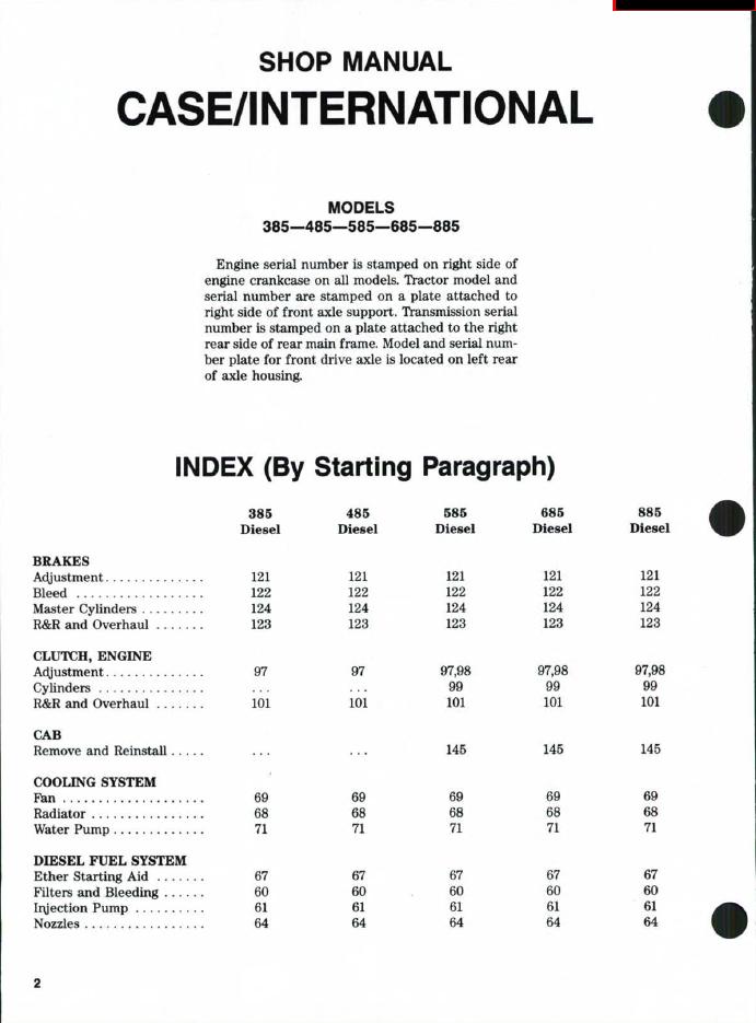 case ih tractors 385 485 585 685 885 shop manual pdf case ih tractors 385 485 585 685 885 shop manual pdf, repair case 885 wiring diagram at edmiracle.co