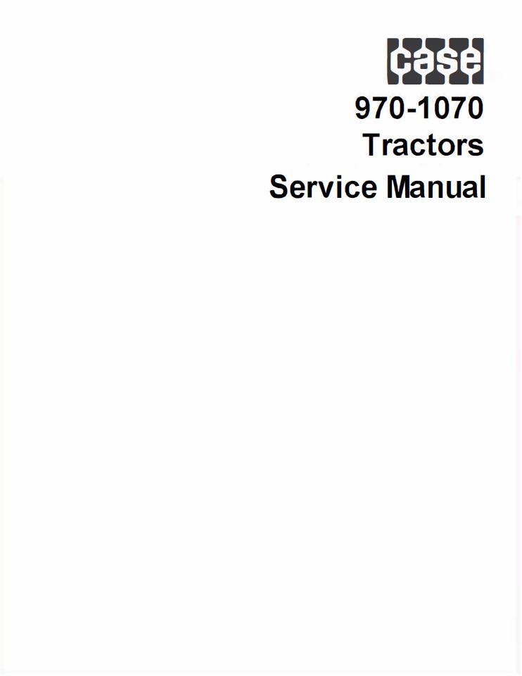 case 970 1070 tractors service manual pdf
