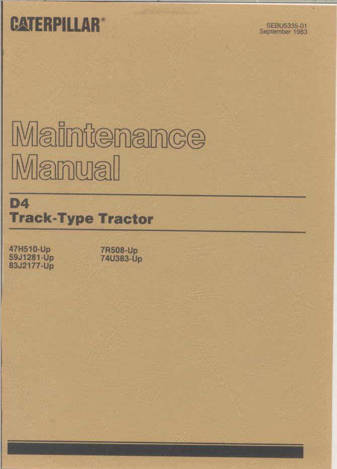 caterpillar d4 track type tractor pdf manualsrepair manual caterpillar d4 track type tractor pdf manuals