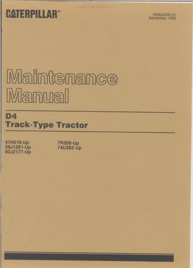 caterpillar d4 track type tractor pdf manuals repair manual repair manual caterpillar d4 track type tractor pdf manuals