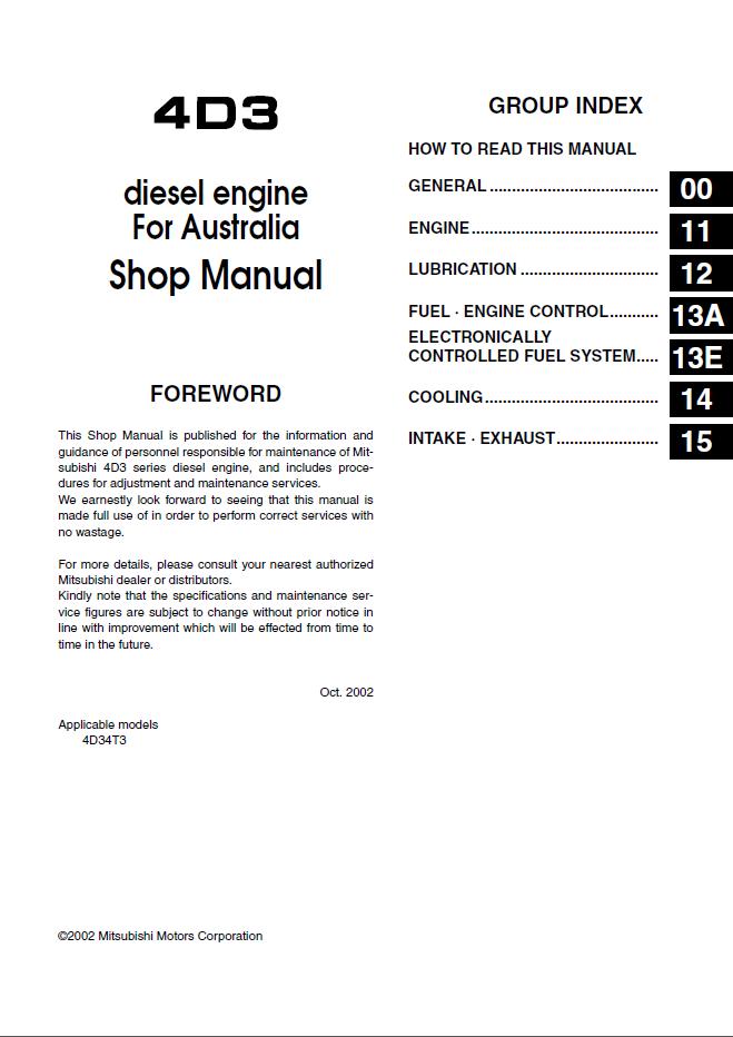 mitsubishi fuso canter truck service manual pdf rh epcatalogs com mitsubishi canter 4d34 workshop manual mitsubishi canter 4d34 workshop manual