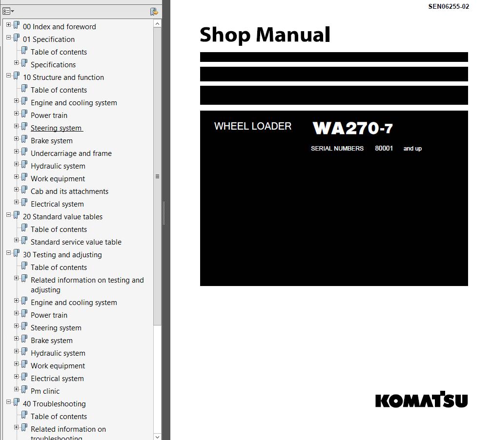 Komatsu Wheel Loader Wa270