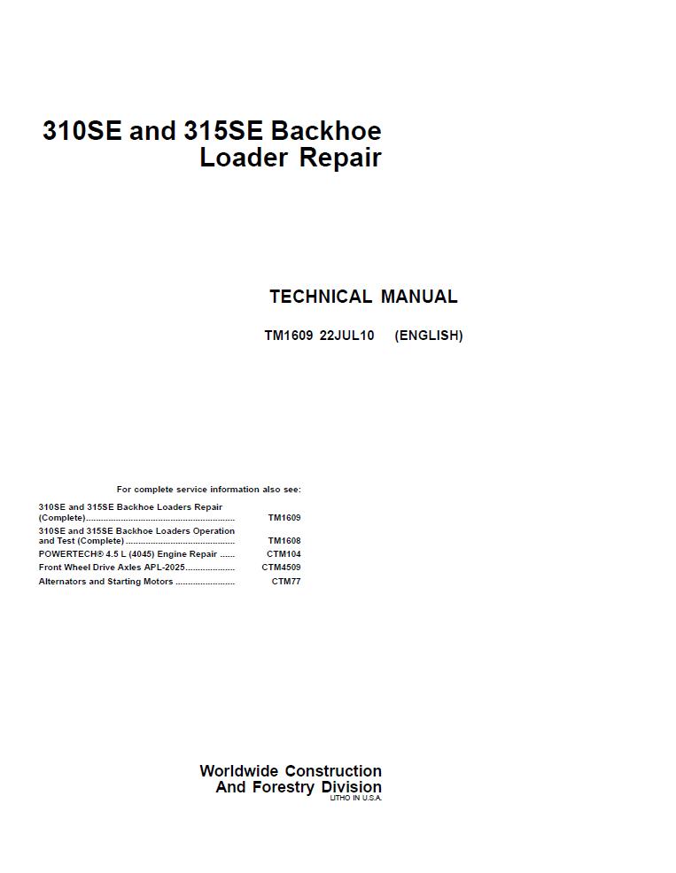 310a John Deere pdf Manual y oficinas
