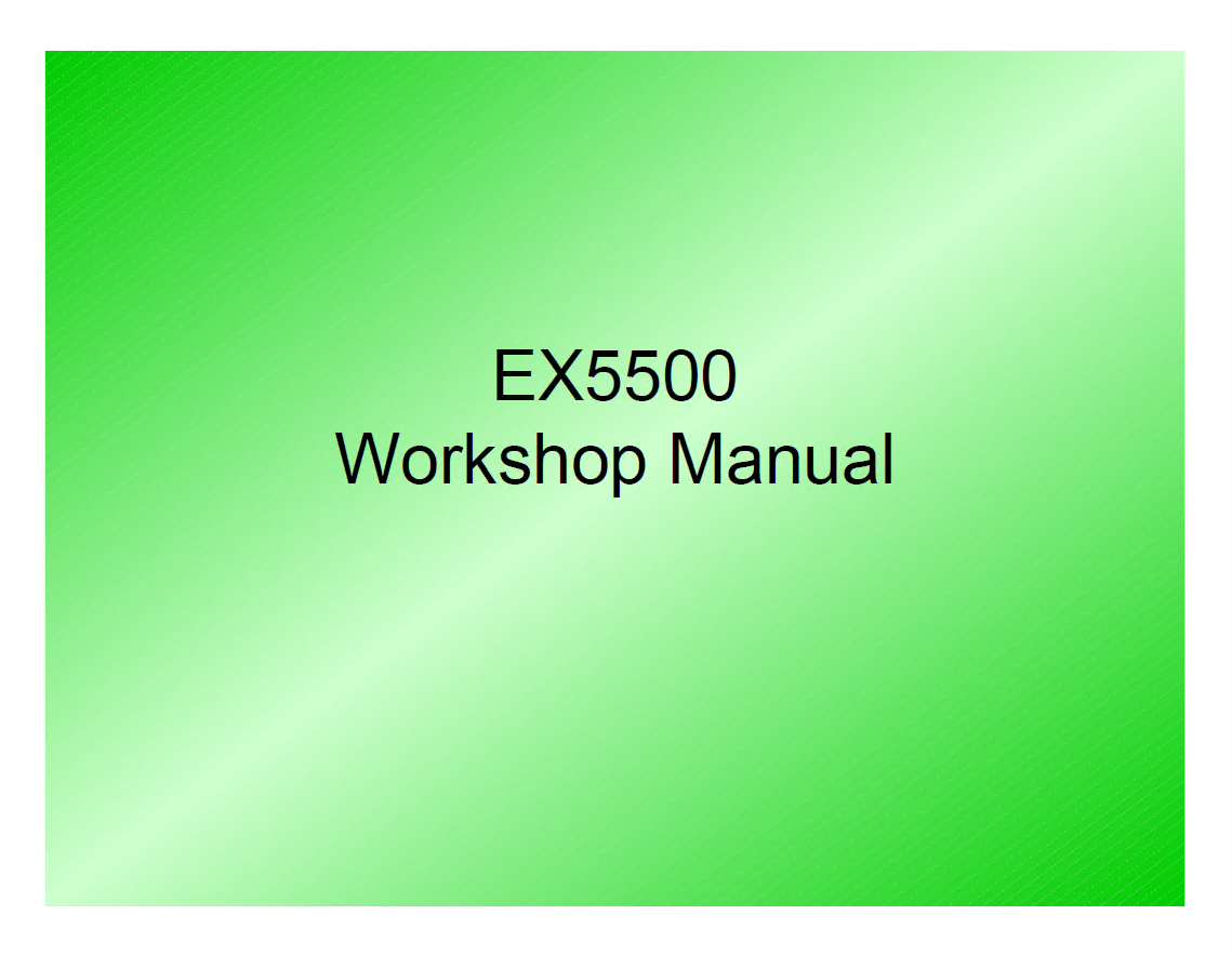 Hitachi Ex5500 Excavator Workshop Manual W118e00 Pdf