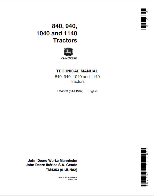 JOHN DEERE Werkstatthandbuch CD-Rom für Motor zum 2250 2450 2650 2850 Traktor
