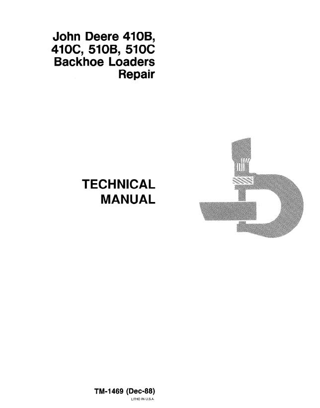 john deere 410b 410c 510b 510c backhoe loaders tm1469 rh epcatalogs com John Deere Alternator Wiring John Deere F725 Wiring-Diagram