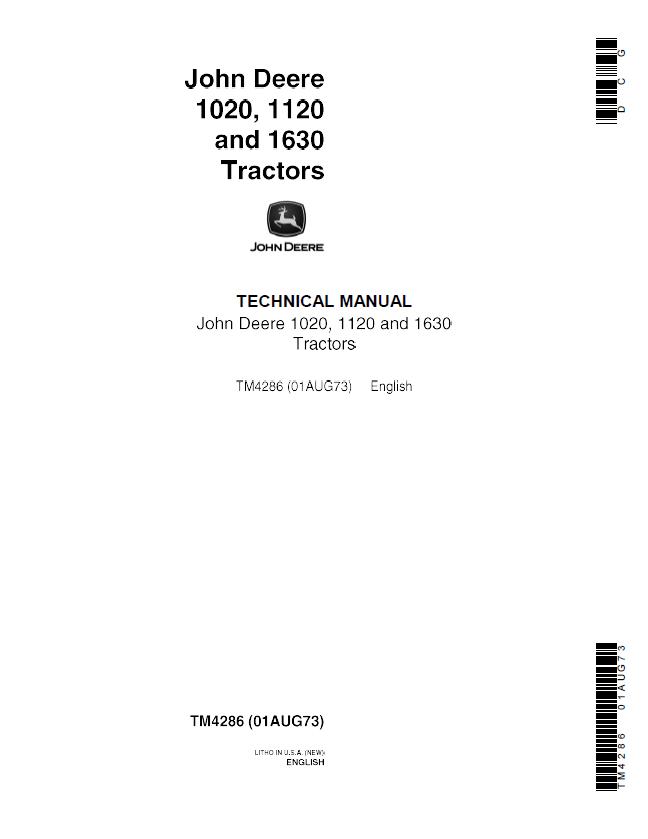 John Deere 1020 1120 1630 Tractors Tm4286 Pdf Technical