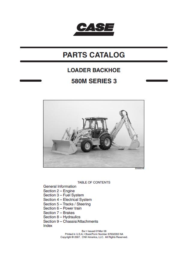 Case Backhoe Parts >> Case 580m Series 3 Loader Backhoe Parts Catalog Pdf