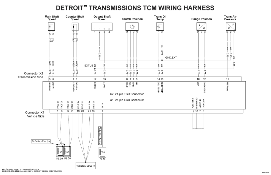 Detroit Diesel Wiring Diagrams All Years, repair manual, Engines